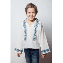 Romanian Blouse for boys - Bell flower de la www.florideie.ro