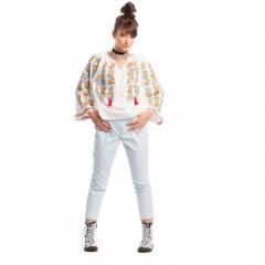 Richness of Earth Romanian blouse de la www.florideie.ro